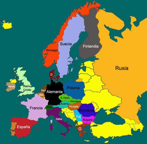 historia contemporanea Mapa de Europa